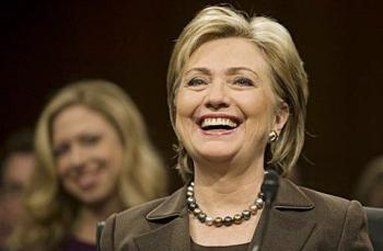Sen. Clinton at her confirmation hearing, January 13, 2009
